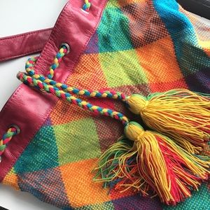 Guajiro Knit Sack Drawstring Bag